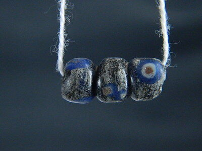 Ancient Mosaic Glass Eyes Bead Roman 200 BC    #STC235