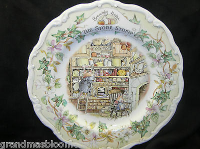 "Royal Doulton Brambly Hedge 8"" Wall Plate The Store Stump 1St Quality Beautiful"