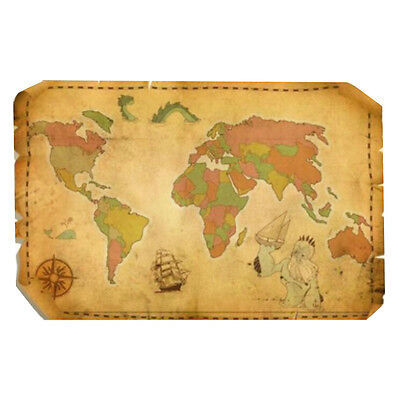 Retro Wall Map/Office Decoration Map/World Map/Mural-01