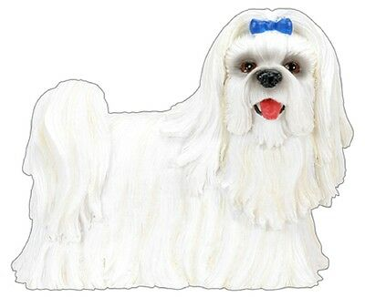 """Maltese Figurine  2.5"""" - New In Box - World Of Dogs Collection - Free Shipping"""