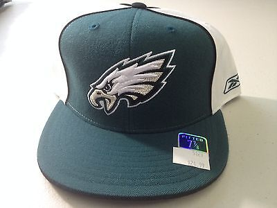 08afb7c0e9f Nwt Retro Philadelphia Eagles Green white Flat Brim Fitted Hat Reebok