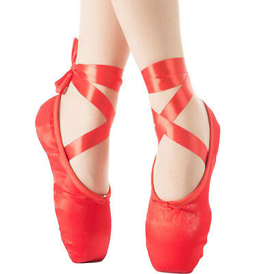 Red Dance Ballet Slippers/Kid&Adult Dancing Shoes/Toe Shoes
