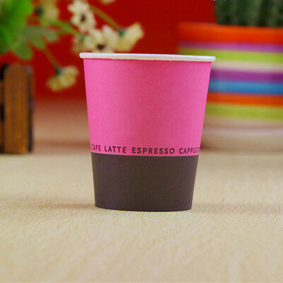 50pcs Disposable Paper Cups 7oz Rose Red and Black  For Wedding Birthday Party