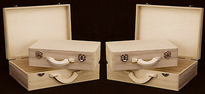 2 x Set/2 Craft Wood/Craftwood Sewing Case - for Decorating/Hobbies/Painting!!