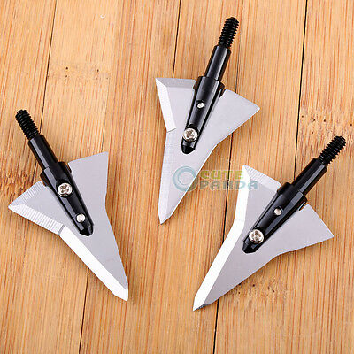 3/6/12pcs 125 Grain Blade Broadheads Archery Arrowheads Sharp Hunting Tips