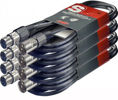 Stagg SMC10 10m Microphone Cable XLR(f) to XLR(m) S Series - 4 Pack