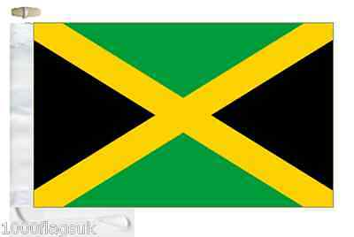 Jamaica Courtesy Boat Flag Roped & Toggled