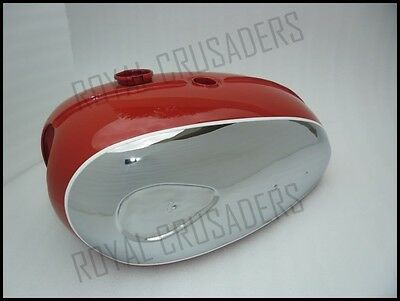 Bsa A65 Thunderbolt,lightning Red Painted Chrome Fuel Tank (Single Carb) (Code31