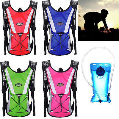 AU 2L Water Bladder Camelbak Hydration System Pack Hiking Camping Backpack Sport