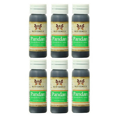 6x Butterfly Pandan Essence 30ml Flavouring Coloring Baking Beverages Halal