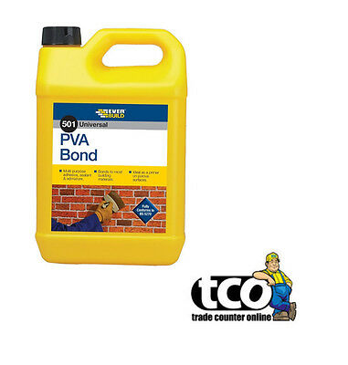 Everbuild 501 PVA Bond Multi Purpose Ronding Agent Primer Sealer - 5L