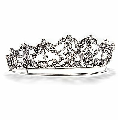 Antikes Diamant Diadem: Große Diamant Tiara, 20,74 ct, Diamanten, um 1880 Gold