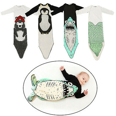 Kids Baby Infant Blanket Wraps/Sleeping Bag Costume Wrap Toddler Sleepsack Shark