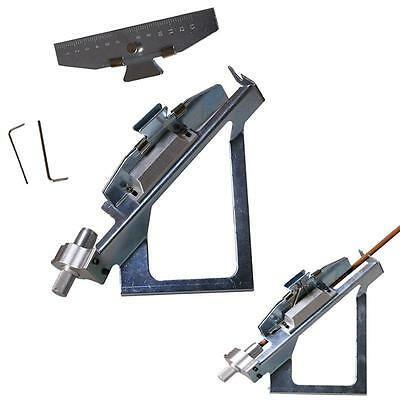 Fletching Jig Archery Aluminum Adjustable Arrow with Clamp Hunting Shooter Silve