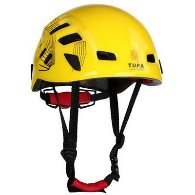 Rock Climbing Caving Rescue Safety Helmet Hard Hat Head Protector Yellow