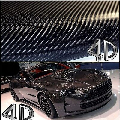 4D Gloss Air free Carbon Fibre Vinyl Wrapping Car Phones 300mm x 1520mm