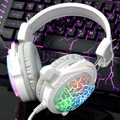 3.5mm Gaming Headset USB Mic LED Headphone Stereo Surround For PC