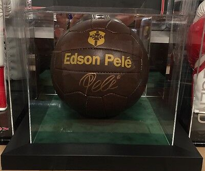 Exclusive Pele Signed Football In A Display Case Rare Proof COA AFTAL