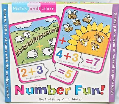 Number Fun Match and Learn Flash Cards Number Puzzles 100's of Sums & Pictures