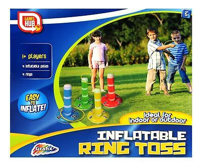 Inflatable Ring Toss  Garden Birthday Party Game Toy Set - Indoors and Outdoor