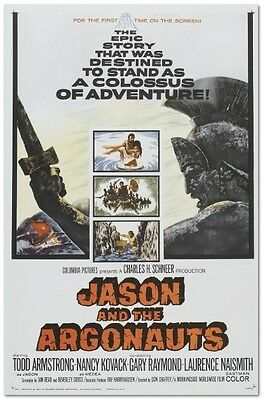 Jason and the Argonauts - Todd Armstrong - A4 Laminated Mini Poster