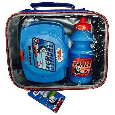 Thomas the Tank Engine Set of 3 - Lunch Bag With Snack Box and Water Bottle