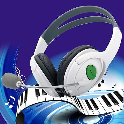 Gaming for XBOX 360 Headphone Over Ear Live Stereo Headset with Microphone White