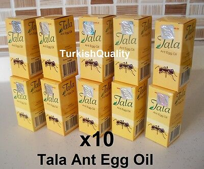 10x New Original Tala Ant Egg Oil -Permanent Hair Removal, Reducing, Natural Oil