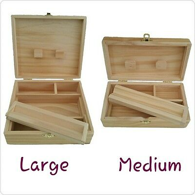 Raw Rolling Supreme Storage Stash Holder Wooden Rolling Box Medium Or Large