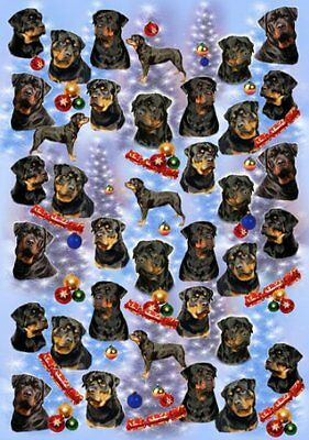 Rottweiler Dog Christmas Wrapping Paper Design by Starprint