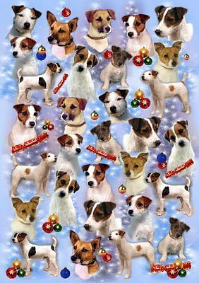 Parson Russell / Jack Russell Terrier Christmas Wrapping Paper Design by