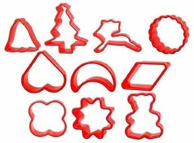 10 Cookie Biscuit Mould Cutter Baking Kitchen Cooking Pastry Sugar Craft Tool