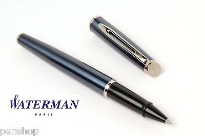 Waterman Hemisphere Metellic Blue Ct Rollerball Pen Rare Nos