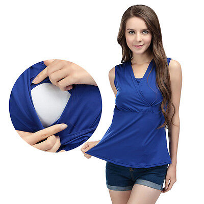 Maternity Tank Tops Women Summer Sleeveless Breastfeeding Clothes Nursing Vest