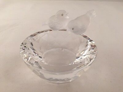 Swarovski Silver Crystal - Bird Bath 7460 nr 108 000 -Slightly damaged -RETIRED