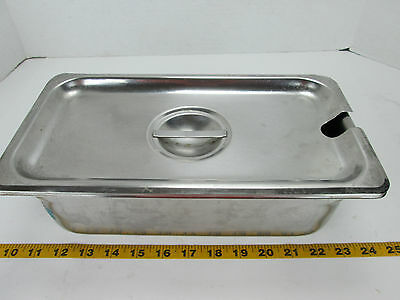 "1/3 Size Food Pan w/Lid 4"" Deep Stainless Restaurant Hotel Steamtable Serving GS"
