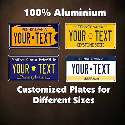 Pennsylvania State Tag Auto OR Motorcycle Novelty Personalized License Plates
