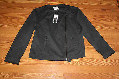 NWT Womens CATHERINE MALANDRINO Brown Spring Blazer Jacket Coat Size M Medium