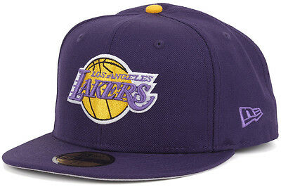 online store 24442 f3593 New Era Custom 59FIFTY NBA Los Angeles Lakers 60th Anniversary Patch Fitted  Cap