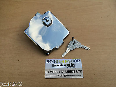 Petrol - Fuel Flap - Lock Keys  - Stainless Steel - For  Lambretta Gp - New