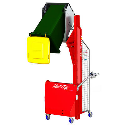 "Hydraulic Bin Tipper, 47"" to 71"" tip height, 331 lbs Capacity, Battery powered"
