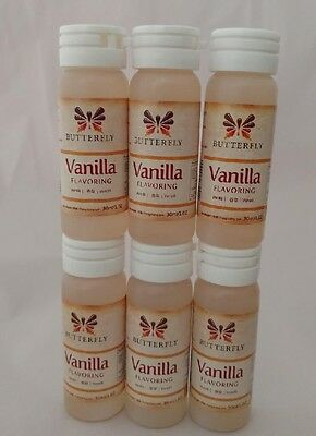 6x Butterfly Vanilla Flavour Paste 30ml Flavouring Baking Dessert Beverages