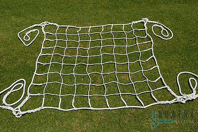 Heavy Duty Scramble / Climbing / Cargo Net 4m x 4m WHITE - 1 Tonne Load Rating