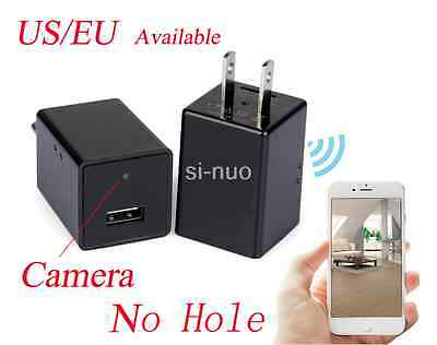 HD 1080P WIFI Mini SPY Nanny Hidden Wall Charger Camera Adapter Plug Motion DVR