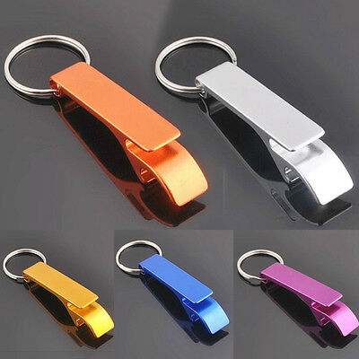 1x Metal Openers Key Chain Keychain Ring Beer Bottle Can Opener Beverage Best