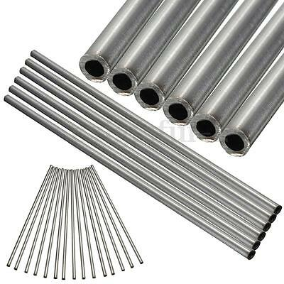 1x304 Stainless Seamless Steel Capillary Round Tube Wall OD 6mmx4mm Length 250mm