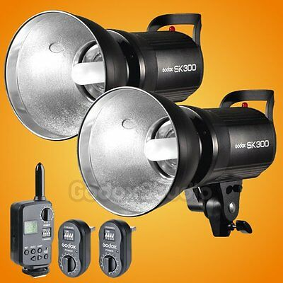 2X Godox SK300 600W Photo Studio Strobe Flash Light + FT-16 Trigger Kit 110V