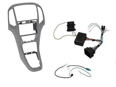Panel complete kit Double 2 DIN Opel Astra J Titan Gray with commands