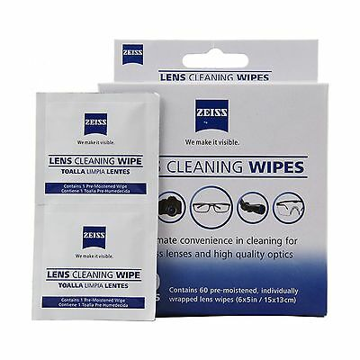 60 Zeiss Pre-Moistened Lens LCD Phone Screen Optical Camera Cleaning Cloth Wipes