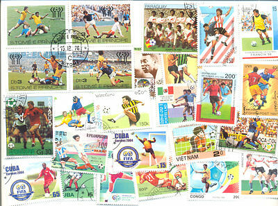 Football 500 all different stamp collection mainly large size